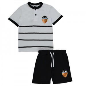Valencia CF Short Pyjamas – White/Black – Junior