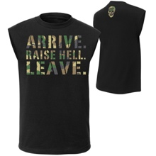 "Stone Cold Steve Austin ""Arrive. Raise Hell. Leave."" Muscle T-Shirt"