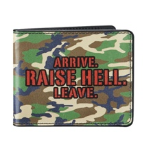 "Stone Cold Steve Austin ""Arrive.Raise Hell.Leave"" Wallet"