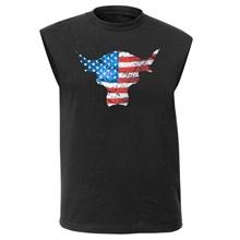 The Rock American Flag Brahma Bull Muscle T-Shirt