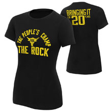 "The Rock ""Bringing It For 20 Years"" Women's T-Shirt"