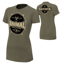 "Batista ""The Animal Hunts Alone"" Women's Authentic T-Shirt"