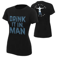 "Chris Jericho ""Drink It In Man"" Women's Authentic T-Shirt"