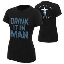 "Chris Jericho ""Drink It In Man"" Women's Authentic T-Shirt"