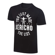 """Chris Jericho """"You Just Made The List!"""" Vintage T-Shirt"""