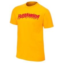 """Hulk Hogan """"Hulkamania"""" Yellow Authentic T-Shirt"""