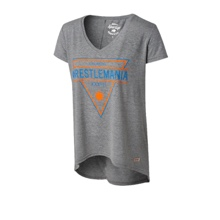 WrestleMania 33 Sportiqe Women's Grey Triangle V-Neck T-Shirt