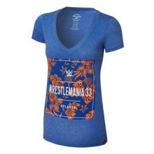 WrestleMania Sportiqe 33 Floral Women's V-Neck T-Shirt