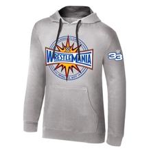 WrestleMania 33 Logo Grey Pullover Hoodie Sweatshirt