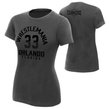 "WrestleMania 33 ""The Showcase"" Women's Charcoal T-Shirt"