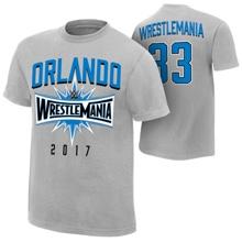 "WrestleMania 33 ""Orlando"" Sport Silver T-Shirt"