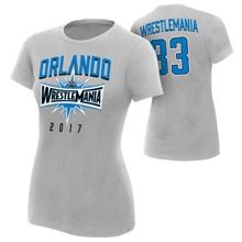 "WrestleMania 33 ""Orlando"" Sport Silver Women's T-Shirt"