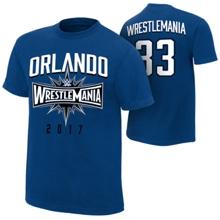 """WrestleMania 33 """"Orlando"""" Blue T-Shirt"""