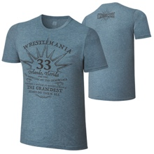 "WrestleMania 33 ""Grandest Stage"" Blue T-Shirt"