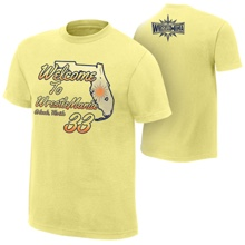 "WrestleMania 33 ""Welcome to Florida"" Youth Yellow T-Shirt"
