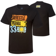 "WrestleMania 33 ""Paint"" Youth Black T-Shirt"