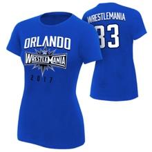 WrestleMania 33 Sports Royal Blue Women's T-Shirt