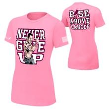 "John Cena ""Rise Above Cancer"" Pink Women's Authentic T-Shirt"