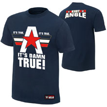 "Kurt Angle ""It's Damn True"" Authentic T-Shirt"