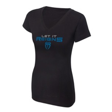 "Roman Reigns ""Let It Reigns"" Women's V-Neck Authentic T-Shirt"