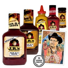 "JR's BBQ ""JR-Mania"" Sauce + Seasoning Package with free signed Thank You note"