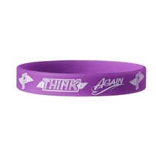 "Paige ""Think Again"" Silicone Bracelet"