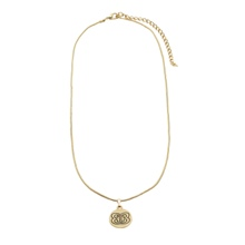 The Bellas Butterfly Gold Disc Necklace