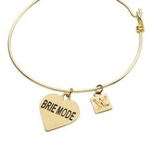 Brie Mode Gold Wire Bracelet
