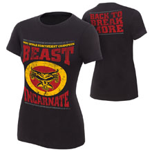 "Brock Lesnar ""Beast Incarnate"" Women's Authentic T-Shirt"