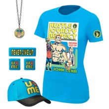 "John Cena ""Throwback"" Women's Authentic T-Shirt Package"