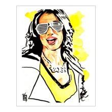 Sasha Banks 11 x 14 Art Print