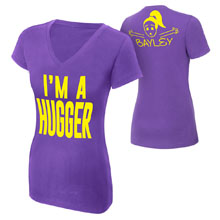"Bayley ""I'm A Hugger"" Women's V-Neck Authentic T-Shirt"
