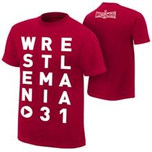 """WrestleMania 31 """"Eye Chart"""" T-Shirt"""