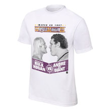 Hulk Hogan vs. Andre The Giant WrestleMania III T-Shirt