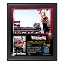 John Cena WrestleMania 31 15  x 17 Framed Ring Canvas Photo Collage