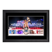 WrestleMania 31 Commemorative Ring Canvas Framed Plaque
