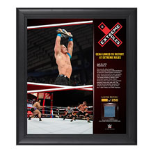 John Cena Extreme Rules 15  x 17 Framed Ring Canvas Photo Collage