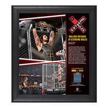 Seth Rollins Extreme Rules 15  x 17 Framed Ring Canvas Photo Collage