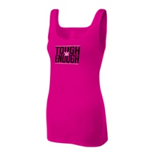 Tough Enough Raspberry Women's Racerback Tank Top
