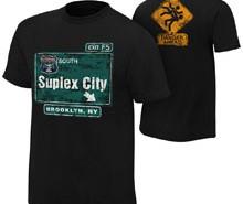 """Brock Lesnar """"Suplex City: Brooklyn"""" Authentic T-Shirt"""