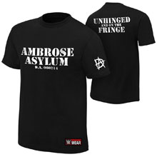 "Dean Ambrose ""Unhinged and on the Fringe"" Authentic T-Shirt"