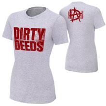 "Dean Ambrose ""Dirty Deeds"" Women's Authentic T-Shirt"