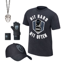 """Roman Reigns """"Hit Hard, Hit Often"""" Youth T-Shirt Package"""