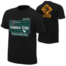 """Brock Lesnar """"Suplex City: Washington, D.C."""" Authentic T-Shirt"""