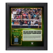 Seth Rollins Money in the Bank 15  x 17 Framed Ring Canvas Photo Collage