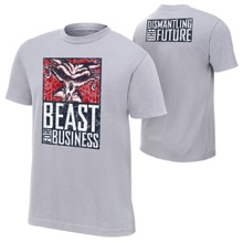 """Brock Lesnar & Paul Heyman """"Beast For Business"""" Youth Authentic T-Shirt"""