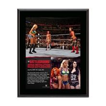 Divas Triple Threat Match Battleground 10.5 x 13 Photo Collage Plaque