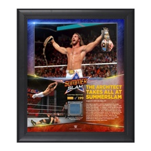Seth Rollins SummerSlam 2015 15 x 17 Photo Collage Plaque