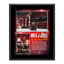 Seth Rollins Hell in a Cell 2015 10.5 x 13 Photo Collage Plaque