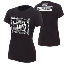 """The Dudley Boyz """"Straight out of Dudleyville"""" Women's Authentic T-Shirt"""
